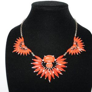 Beautiful red and gold statement necklace